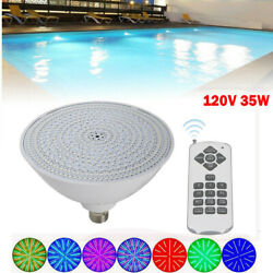 Swimming Led Underwater Lamp Rgb Color Changing Pool Light Bulb 120v 35w Sale