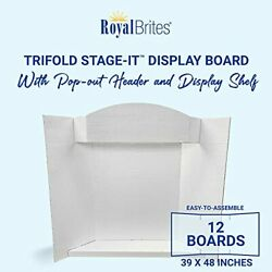 Royal Brites Stage-it Display Board With Crown Header And Shelf Presentation Bo...