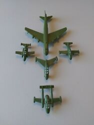 5 Usaf Airplanes. Plastic Toy Lot