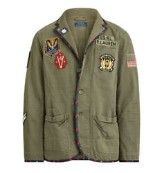 Polo Menandrsquos Chino Graphic Chore Military Officers Jacket Nwt Sz. S