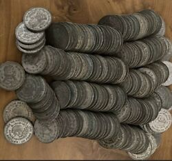 200 Coin Lot - Mexico 10 Silver Peso Coins - 1957-1967 Assorted Years.