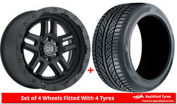 Alloy Wheels And Tyres 20 Black Rhino Barstow For Nissan Navara [d22] 97-04