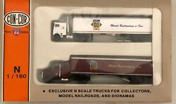 Con-cor N Gauge 0004-003047 Anniversary Tractor/trailer Set 2 Pack