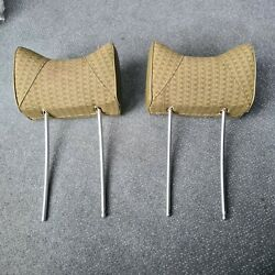 Headrests Rabbit Ear Pair Left And Right For Mercedes W107etc. Fabric Green Front