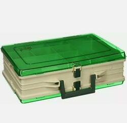 Plano Magnum Tackle Box Double Side Sandstone/green 1119 Premium Tackle Stor...