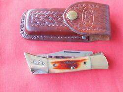 Case Xx 5197 Lss Shark Tooth Red Stag Handles 1984 Knife