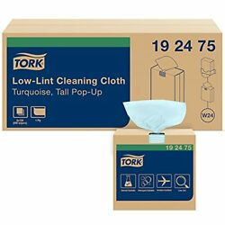 Tork Low-lint Cleaning Cloth Turquoise W24 Top-pak 8 X 100 Cloths 192475