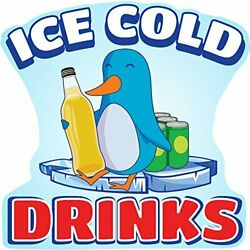 Ice Cold Drinks 2 48 Concession Decal Sign Cart Trailer Stand Sticker Equipment