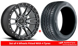 Alloy Wheels And Tyres 18 Fuel Rebel 6 D680 For Ford Ranger Mk5 Arch Kit 16-20