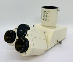Zeiss Microscope Trinocular Head With Photo Tube 452910 For Axioskop And Others