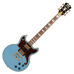Dand039angelico Deluxe Brighton Steel Blue Electric Guitar