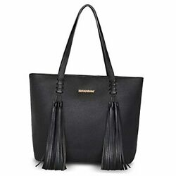 Tote Bag for Women Leather Large Concealed Carry Purse for Work Black G029 $65.98