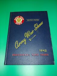 Ww2 Wwii Us Army War Show. Yearbook 1941 Book- Rare