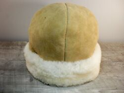 Vintage Shearling Bomber Riding Motorcycle Hunting Pilot Cap Hat Size Small