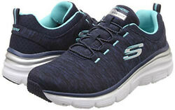 Andnbspnew Womenandnbsp Slip-on Sketcher Shoes Memory Foam Us- Size 8 Navy/turquoise In Box