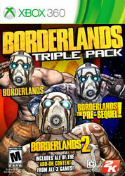 Borderlands Triple Pack Xbox 360 Brand New Factory Sealed Us Version Xbox 360