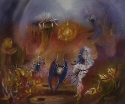 World Of Souls. My Name Is Whispered Here Fantasy Art Oil Painting