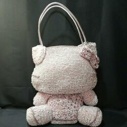 Super Rare Anteprima Ratho Hello Kitty Large Wire Bag Silver Pink Used 9343mn