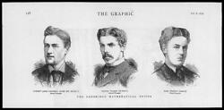 1879 - Antique Print Portraits Andrew Campbell George Walker Carl Pearson 075