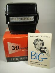 View Master 3-dimention Model D Focusing Viewer Tested And Working Original Box
