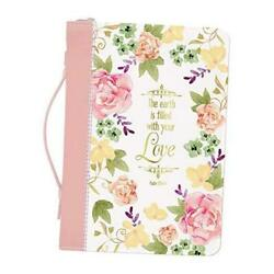 Filled With Your Love Watercolor Garden Faux Leather Bible Cover X-large