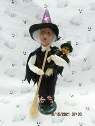 Byers Choice Halloween Witch With Baby Witch And Broom