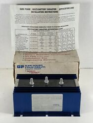 Sure Power 1202 Multi Battery Isolator 120a 3 Studs 6 Holes At .210 New