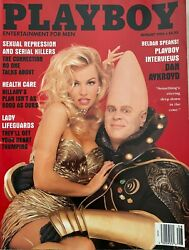 Playboy Magazine 1993 August Issue With Dan Aykroyd And Pamela Sue Anderson