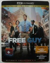 Free Guy 4l Uhd + Blu-ray + Digital + Slipcover New And Sealed