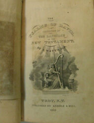 1833 The Psalms Of David Isaac Watts Troy N.y. Kemble And Hill Signed Israel Clark