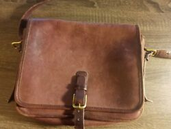 Brown leather Coach bag $80.00