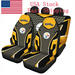 Usa Pittsburgh Steelers Car Seat Cover Front Rear 5 Seater Truck Seat Protector