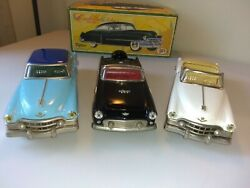 Fifties Friction Tin Cars Lot. Made In Japan. 3 Minty Collectible Clean