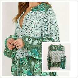 Beautiful 🦄 Relaxed Fit Spell And The Gypsy Collective Winona Blouse In Ivy Xs