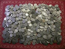 Buffalo Nickels - Lot Of 723 - Teens 1920and039s 1930and039s With Dates Mintmarks