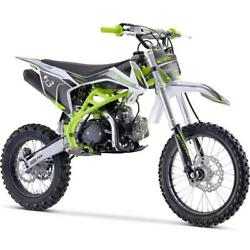 Mototec X3 125cc 4-stroke Gas Dirt Bike Green Free Shipping To 47 States Only