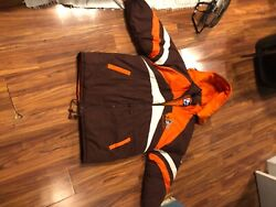 Cleveland Browns Pro Player Nfl Football Coat Big And Tall Adult Xxl 2xl X-long