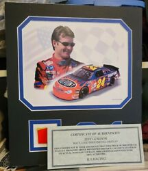 Jeff Gordon Race Used Sheetmetal Display. Certificate Of Authenticity Included.