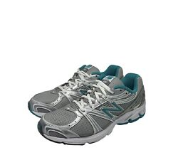 Womens New Balance Silver White Turquoise Wr580 Athletic Running Shoes Size 9b