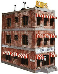 Life-like Trains N Scale Downtown Brick Hotel Scenery Kit No. 433-7482 Unboxed
