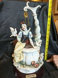 Guiseppe Armani - Snow White At The Wishing Well With 7 Drawfs - Free Shppping