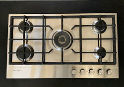 Fisher And Paykel Cg365dlpx1 36andrdquo 5-burner Gas Cooktop Cast Iron Grates