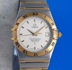 Mens Omega Constellation 18k Gold And Ss Automatic Chronometer Watch - 1202.30