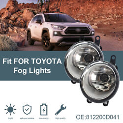 Complete Clear Lens Fog Light Kit W/ Bezel Covers Wiring For 14-up Toyota Tundra