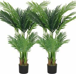 4Ft Artificial Kentia Palm Tree Fake Greenery Plant Home Office Decoration
