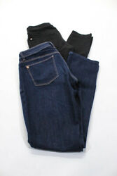 7 For All Mankind Dl1961 Womens Skinny Jeans Black Blue Size 28 Lot 2