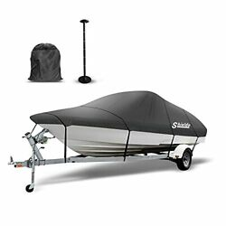 Shieldo Bass Boat Cover 600d Boat Covers With Support Pole 9 Boat Cover Strap...