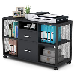 Tribesigns Rolling Lateral File Cabinet Filing Cabinets W/ Letter Size Drawer