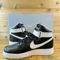 New Nike Air Force 1 High '07 Shoes Black White Men's Size 10 Ct2303-002