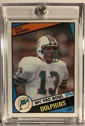 Dan Marino 1984 Topps Rookie Card Miami Dolphins 🐬 🔥 🏈 123 Auction 1